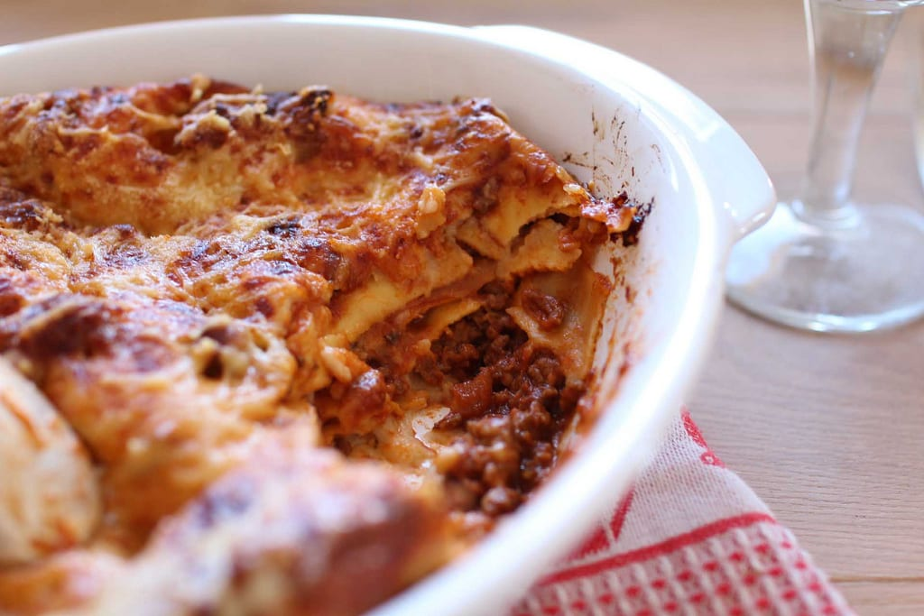 Vincigrassi, a type of lasagne