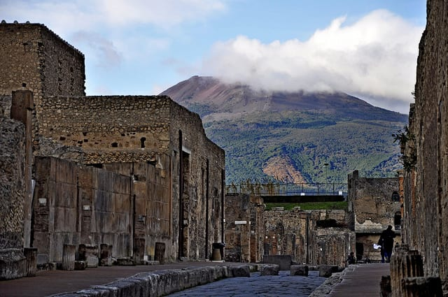 via di Mercurio with Mount Vesuvius Photo by Carlo Mirante