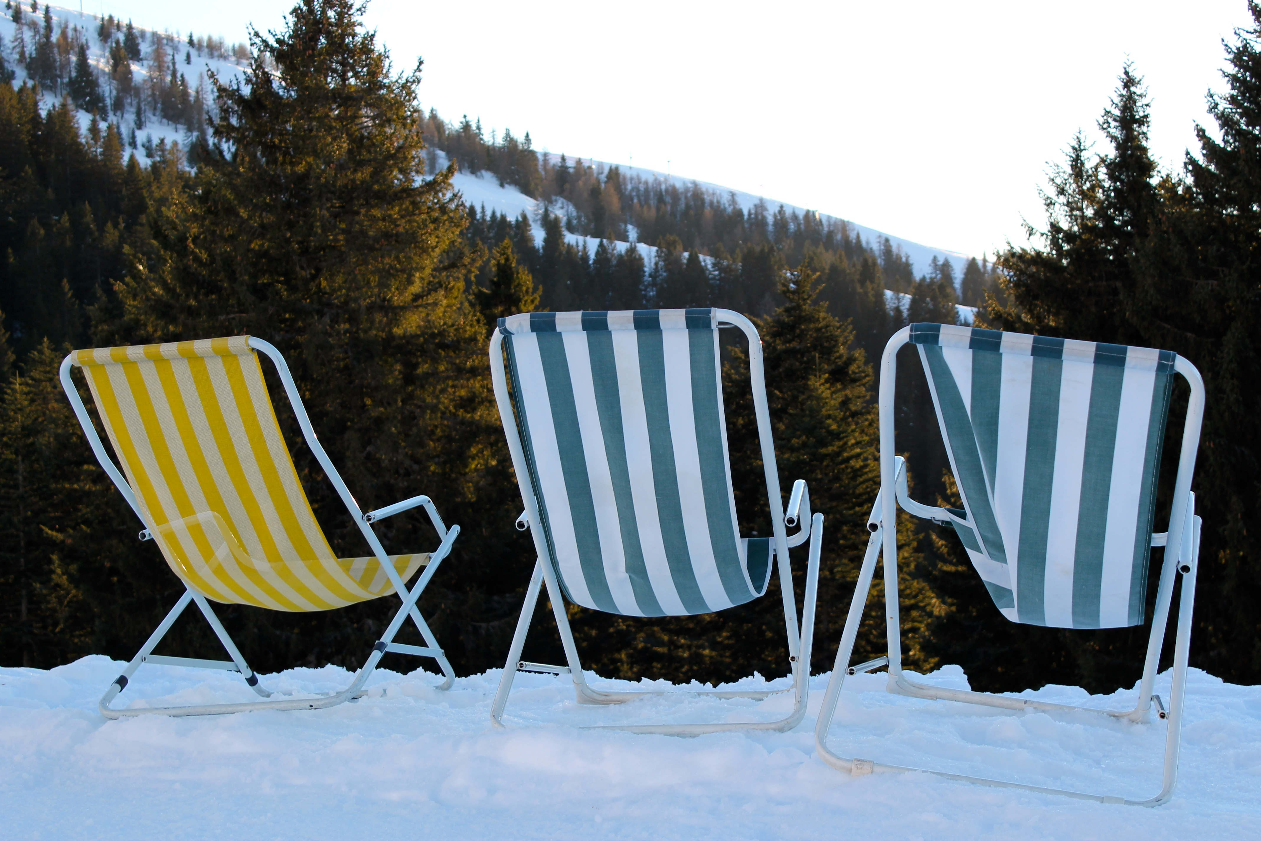 Or you can sunbathe while you ski! Photo by Gina Mussio