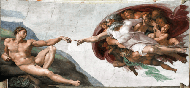 Vatican Museums - Capella Sistina Ceiling - Creation of Adam