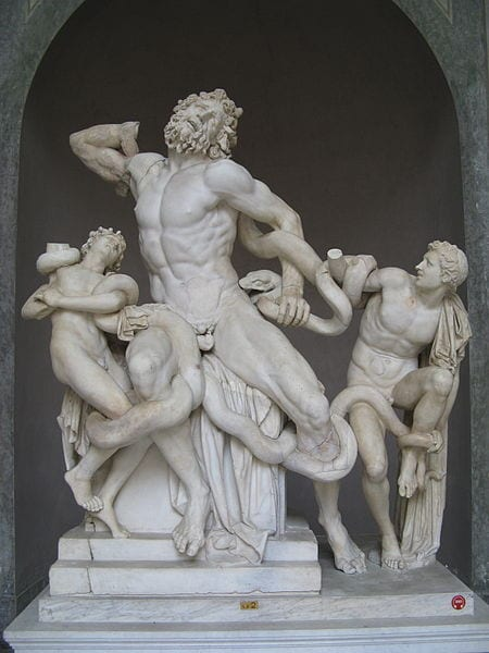 The Laocoön statue is one of many fascinating works of art you'll see when visiting the Vatican Museums.