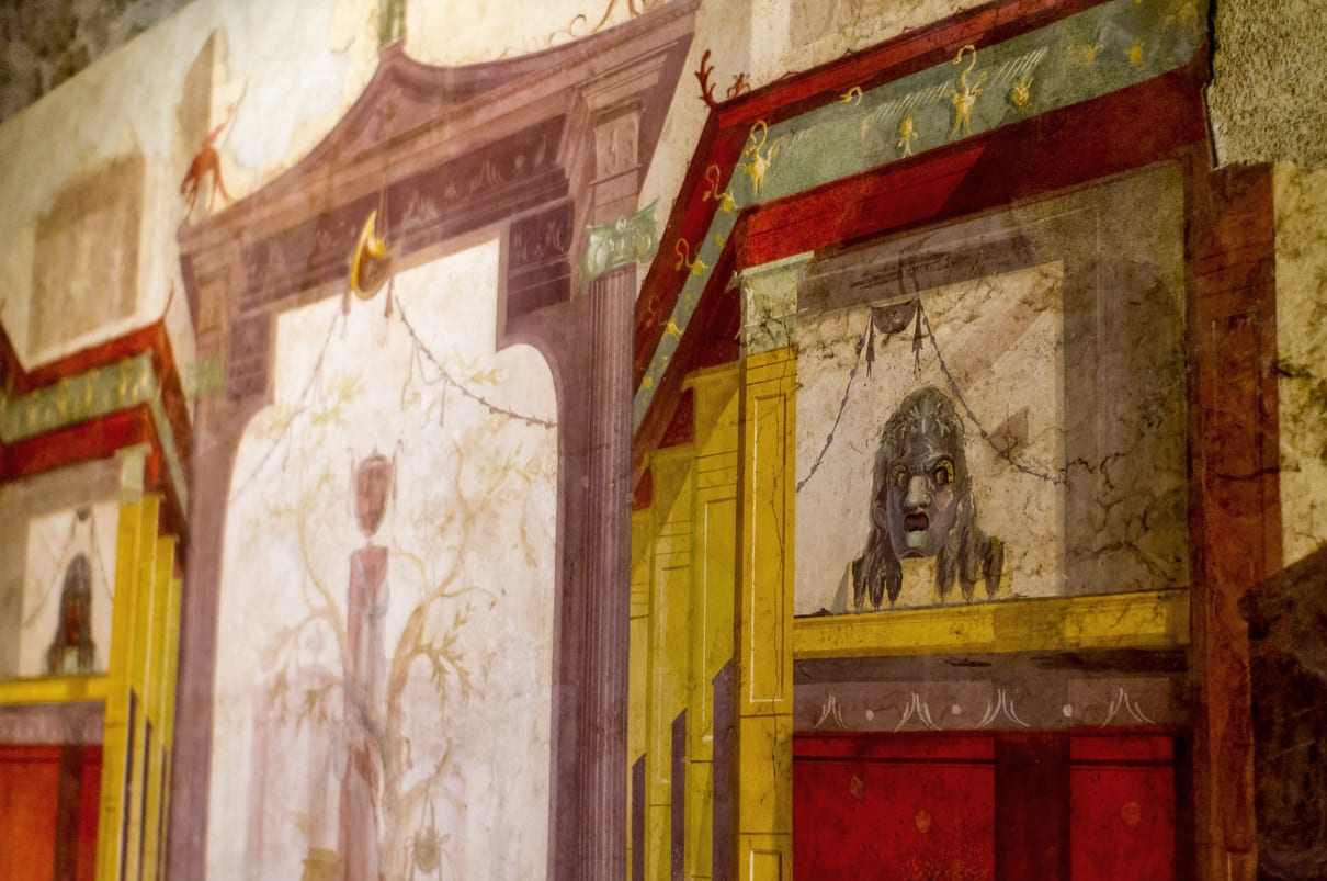 Paintings in the House of Augustus on Walks of Italy's new 'VIP Caesar's Palace Tour'.