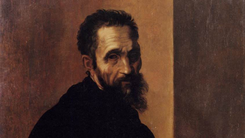 Self-portrait of Michelangelo