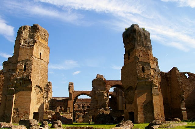 The second largest public baths in ancient Romes, it's said that the Caracalla Baths' design even inspired the original Pennsylvania Station in New York City. Photo by Teldridge