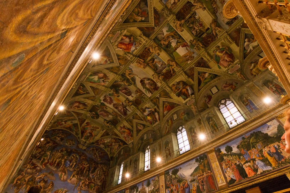 Vatican Museums: The ceiling of the Sistine Chapel