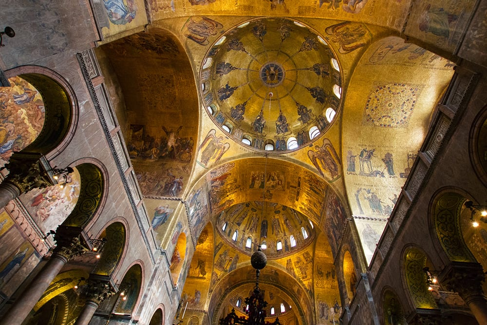 The ceiling of the nave of St. Mark's Basilica.