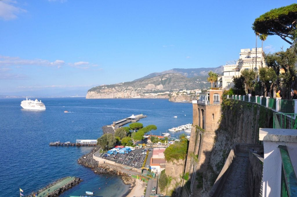 The view from the cliffs of Sorrento, Italy