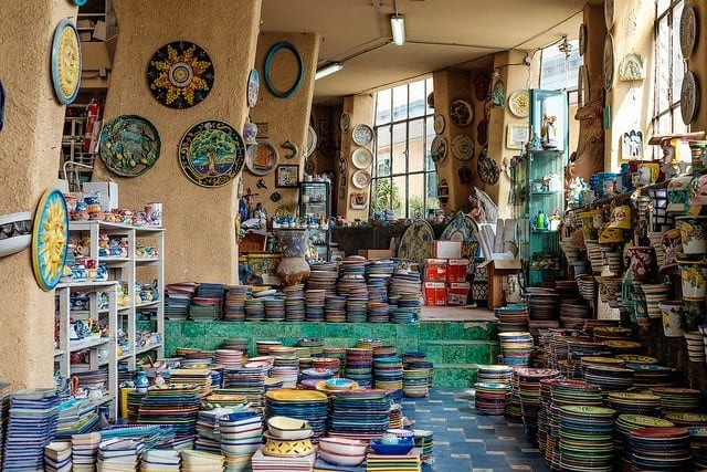 Vietri sul Mare is filled with shops selling the areas famous majolica pottery.