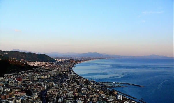 Salerno is a big city and an important transit hub along the coast with one beautiful panorama!
