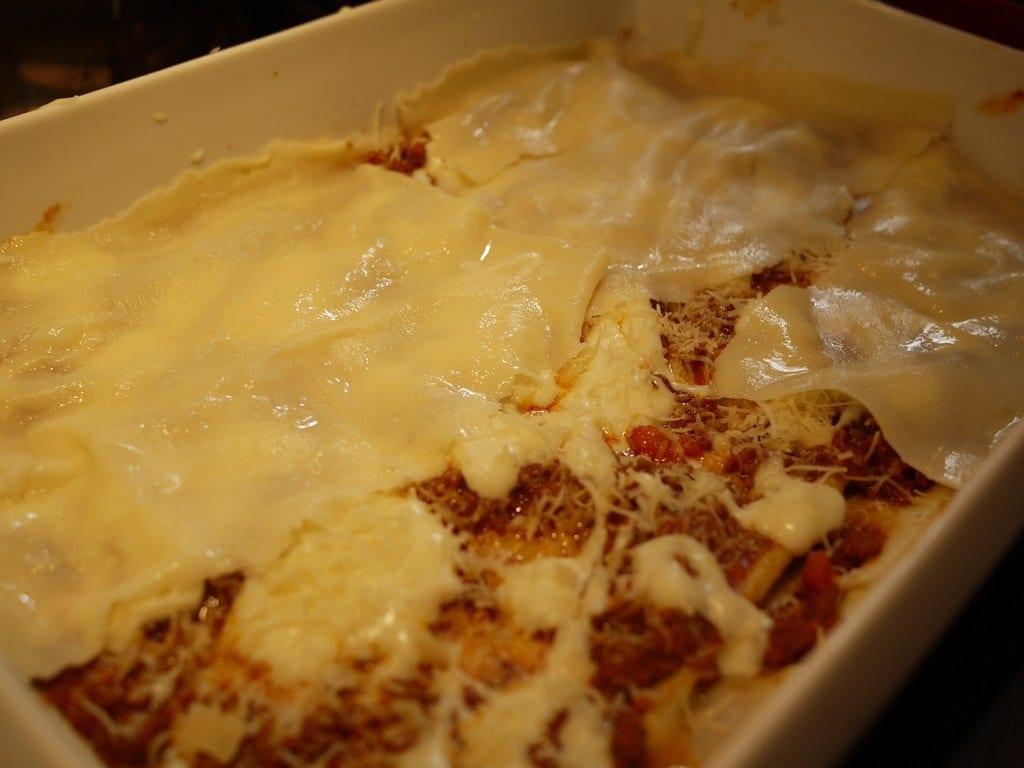 Bechamel, ragu, and pasta
