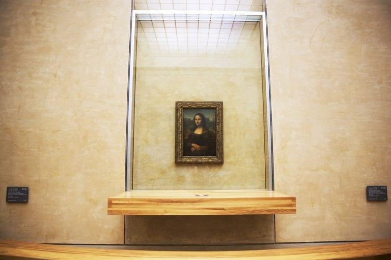 Mona Lisa Glass Case