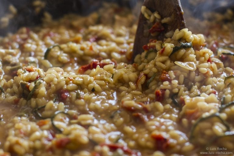 Risotto requires a lot of stock and a lot of stirring.