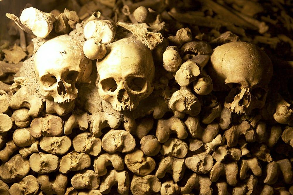 Bone Decorations Paris Catacombs