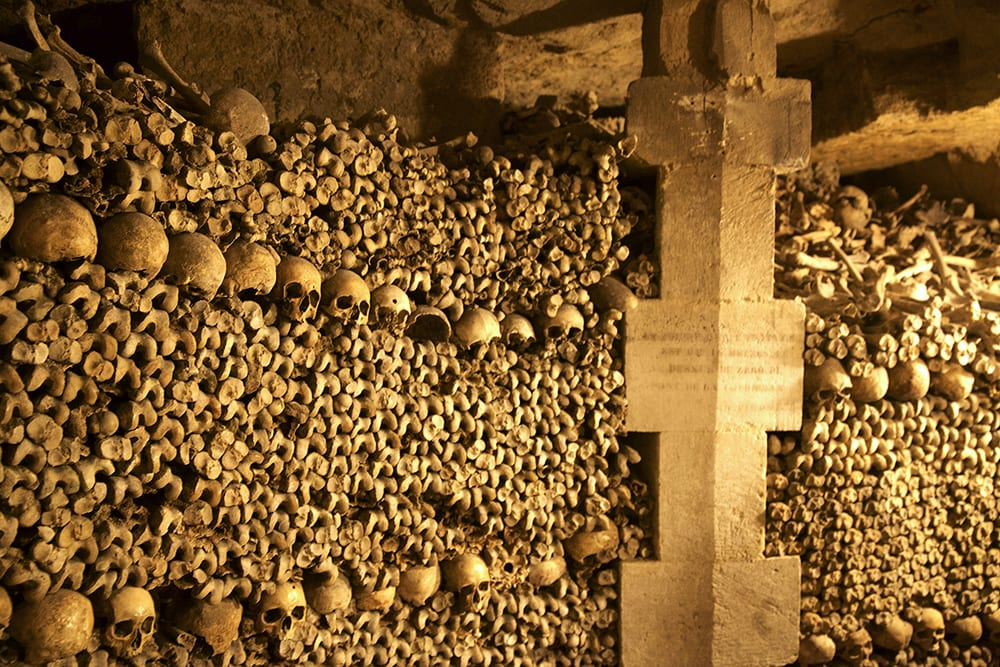 Paris Catacomb Walls