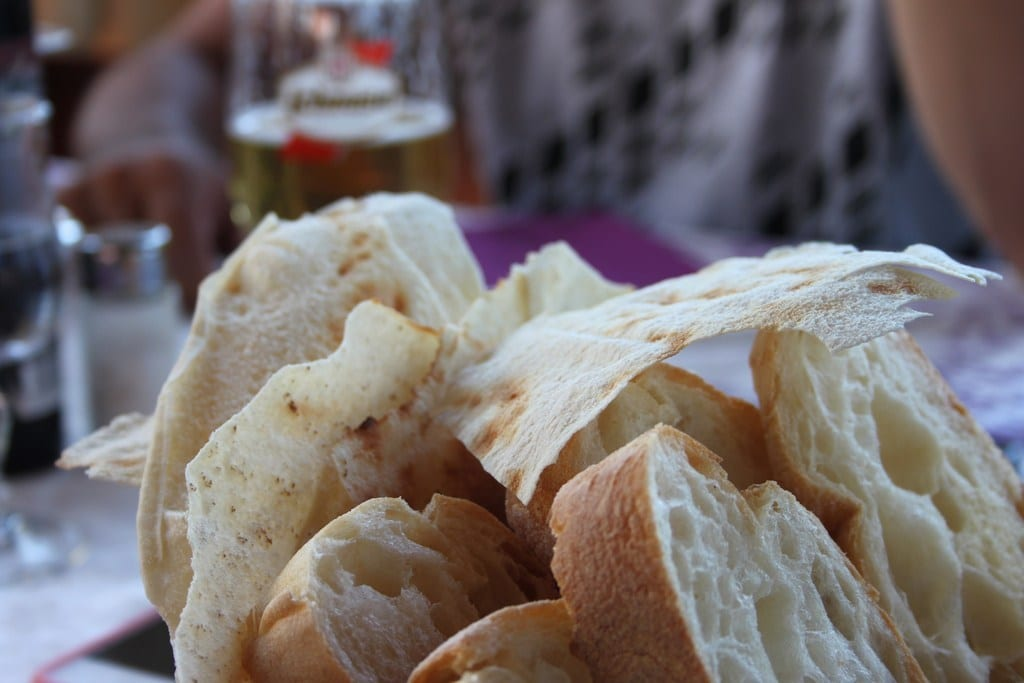 "'Pane Sardo', pictured on top, is a thin Sardinian bread known locally as ""music bread""."