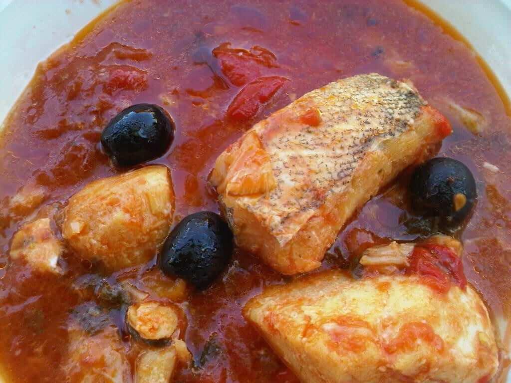 Baccalà in a tomato sauce