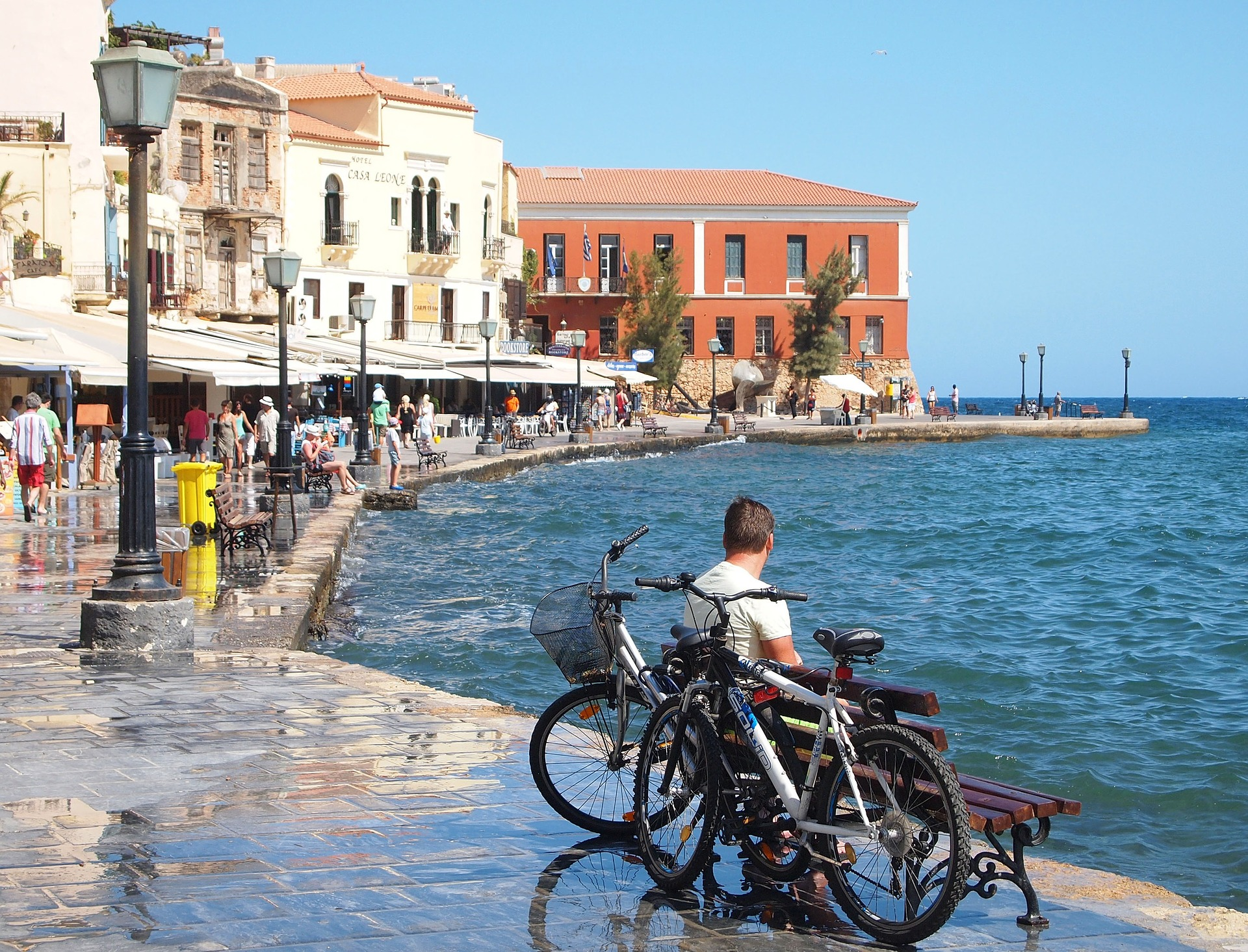Old Venetian Harbour in Chania Town, Crete