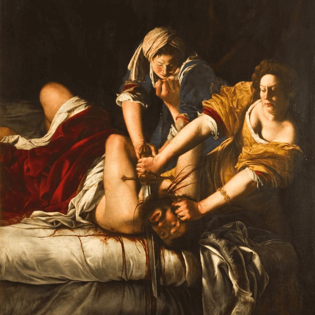 """Judith slaying Holofernes"" by Artemisia Gentileschi"