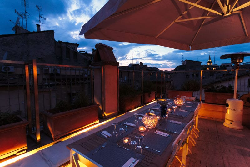 Cooking class in Rome: Roof top terrace